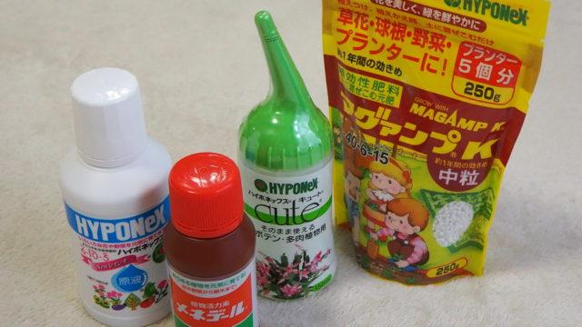 多肉植物・サボテンに使用するオススメの化成肥料と液体肥料